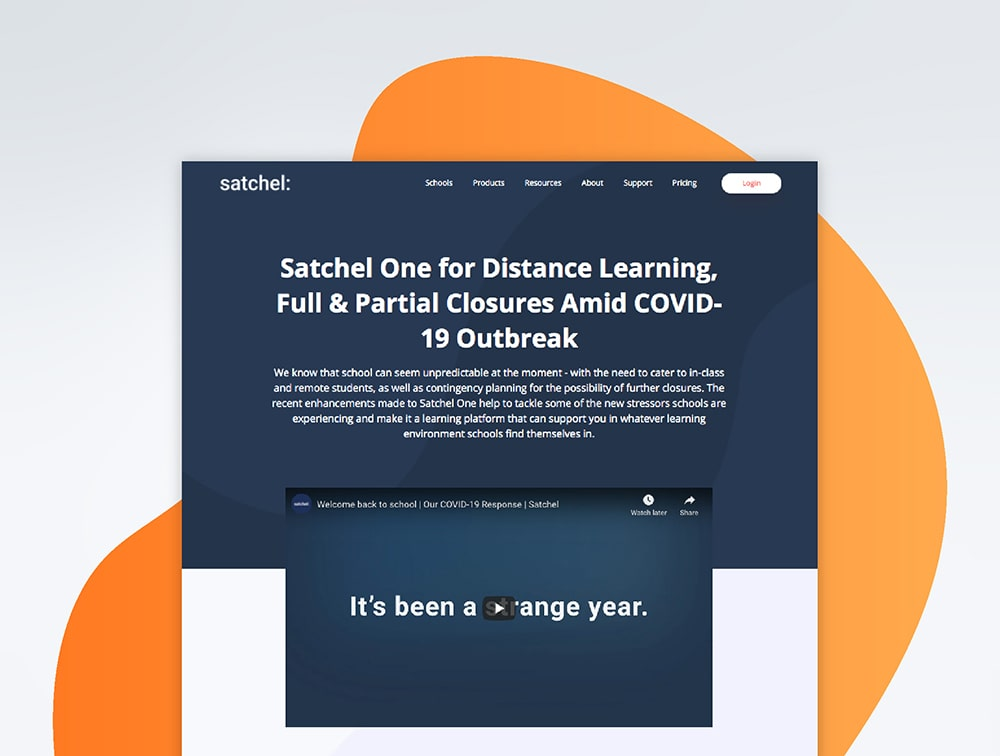 Overview of the changes made to Satchel One to better support distance learning
