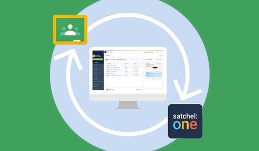 Satchel One and Google Classroom Logos linked