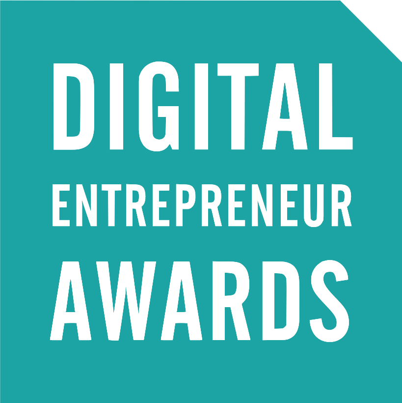 Digital Entrepreneur Logo showcasing Satchel as winners of Digital Innovation in the Public Sector in 2017