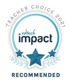Edtech Impact Recommended badge showcasing Satchel One as a recommended tool by the independent reviews site