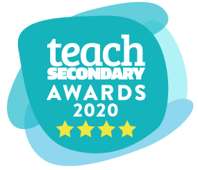 Teach Secondary Awards Logo showcasing Satchel as 4* winners in the School Business Category in 2020