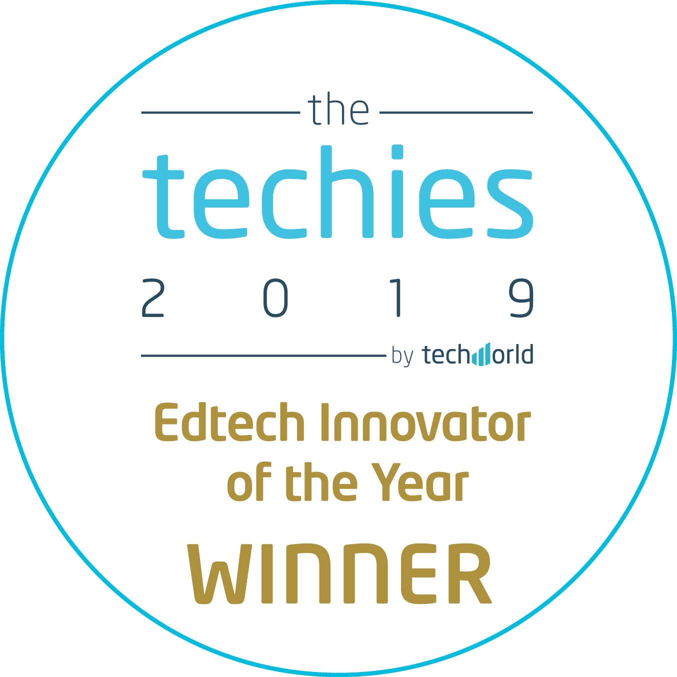 The Techies Awards Logo showcasing Satchel as winners in the Edtech Innovator if the YEar cateogry in 2019
