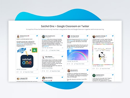 Tweets from Satchel One users who use Google Classroom with Satchel One