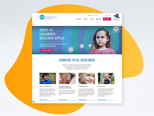Action Medical Research's website