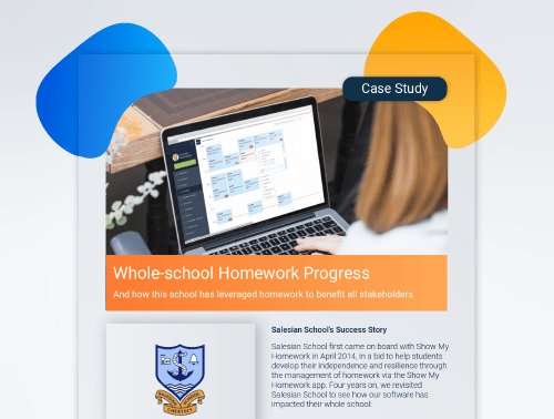 Salesian school case study where the school discuss their use of Show My Homework, part of Satchel One