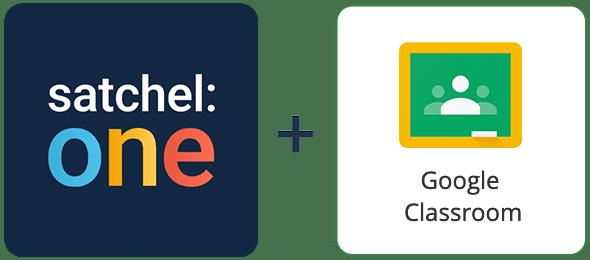 Satchel One and Google Classroom logos