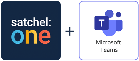 Satchel one and Microsoft Teams logos
