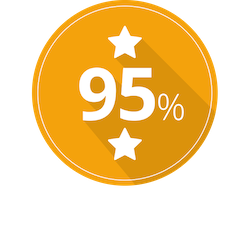 Badge with stars showing high customer satisfaction rating for Show My Homework help and support